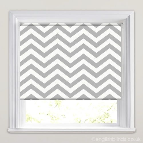 Chevron Chic Gris Roller Blind