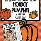 Hi! Just a warning, this is not a common core aligned pumpkin. (Hee hee) This is just for fun! Students can have fun creating this special keepsake...