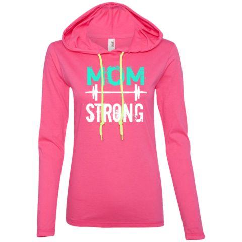 Mom Strong Ladies Longsleeve Hoodie