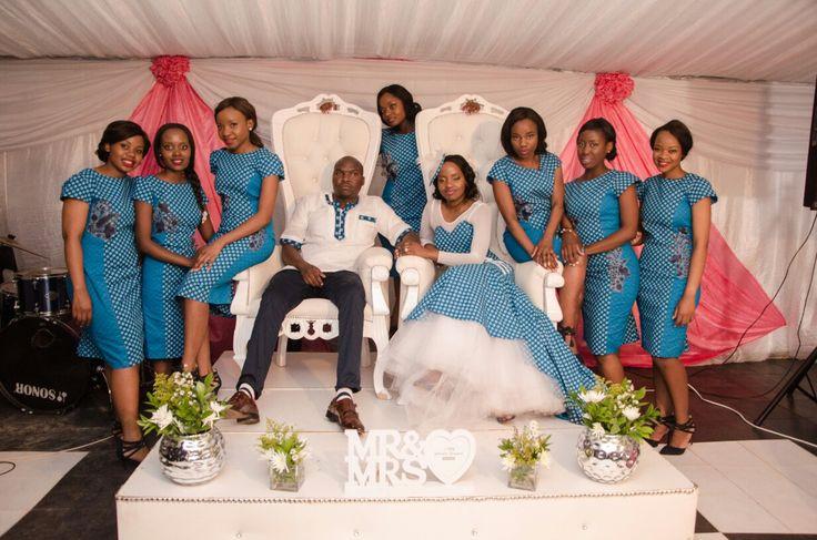 shweshwe dresses bridesmaids/bride