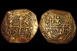 Spanish Coins - Gold Doubloons This one is from,the House of Hapsburg, the ancestral lineage of Queen Isabela and King Ferdinand of Spain.(Found here-http://www.2-clicks-coins.com/article/doubloon.html)