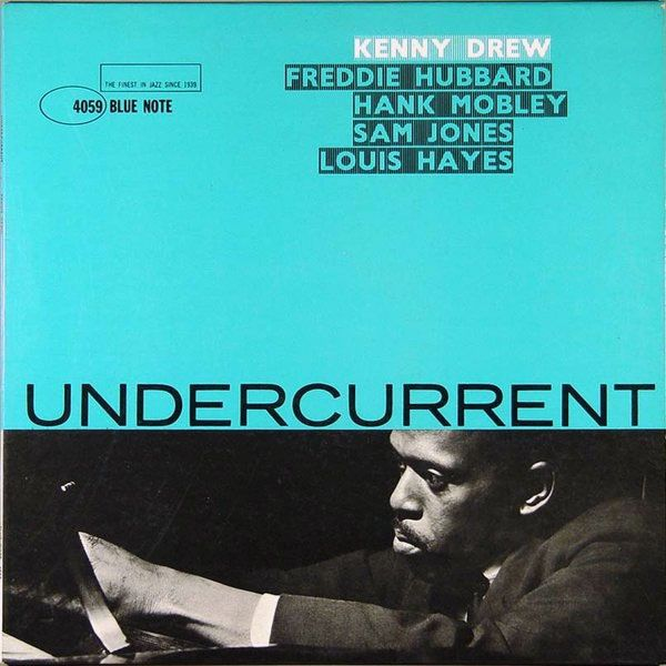 Kenny Drew | Undercurrent (1961) | Blue Note 4059 | Cover design by Reid Miles | Album covers, Album cover design, Album cover art