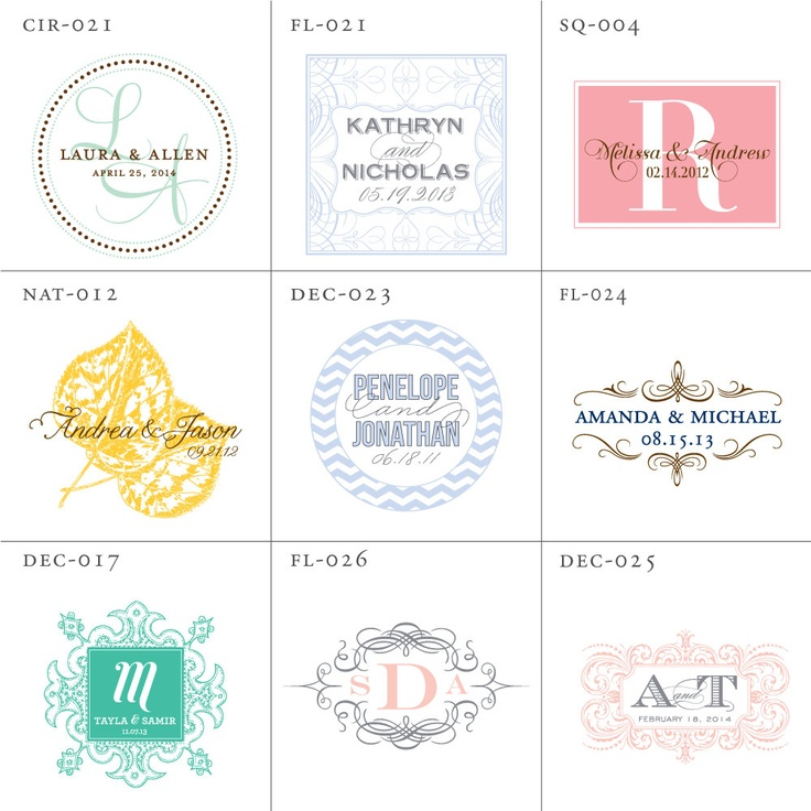 Wedding Logo Design, Wedding Monogram Digital File - Pick 1. $10.00, via Etsy.