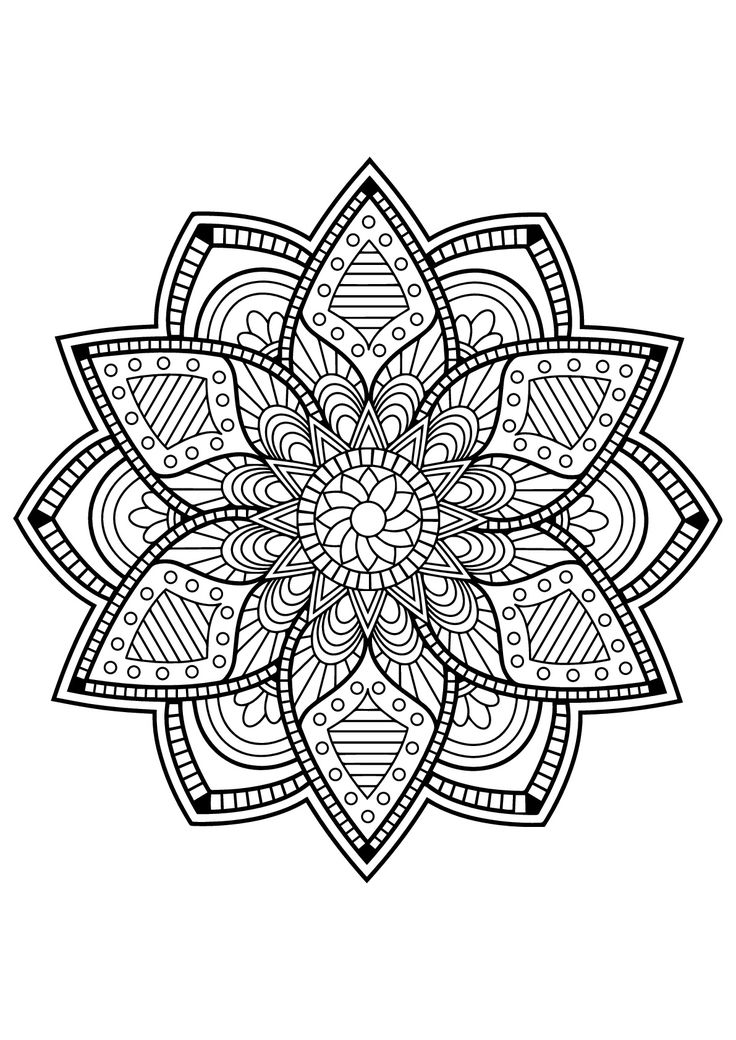 637 best Mandalas and other coloring pages images on