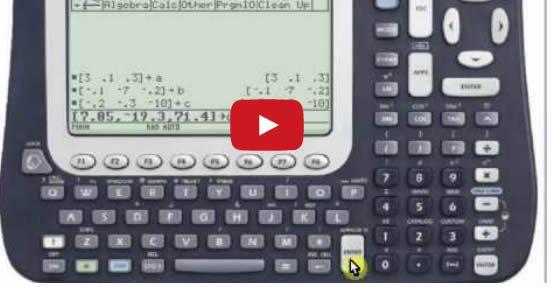 Solucion de Ecuaciones con Matrices