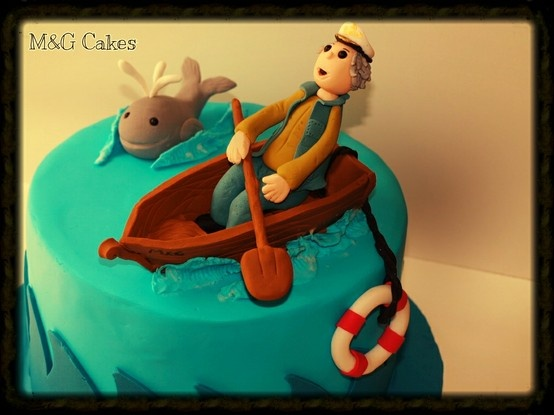 Retired captain's cake #fondant