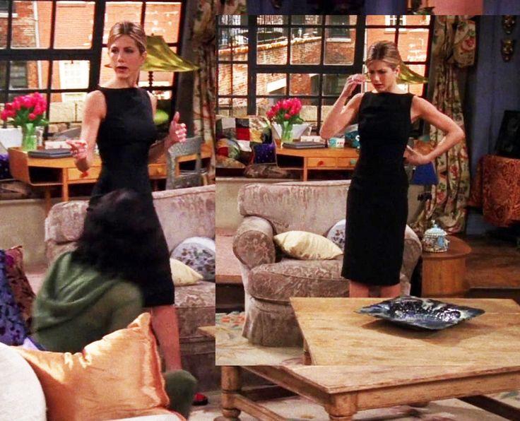 Black dress, Season 5. Rachel has a job interview at Ralph Lauren.
