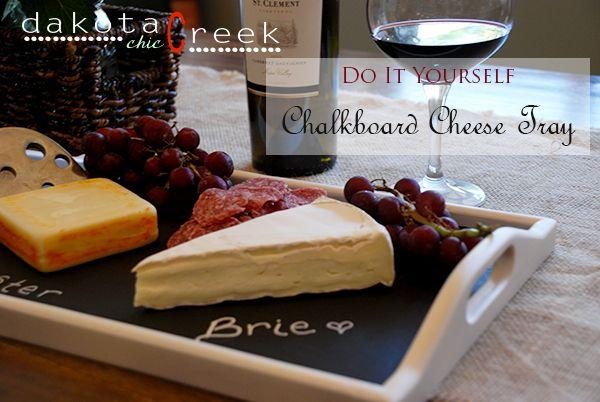 DIY Thrifted Chalkboard Cheese Tray at Dakota Creek Chic