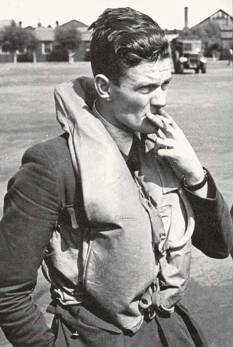 """On 18 August 1940, P/O James E """"Nigger"""" Marshall took off without orders when No 85 Squadron RAF scrambled at 17.24hrs. Having returned to RAF Debden, S/L Peter W Townsend saw Hurricane Mk I VY-D land with a wingtip missing and was surprised to see the 22-year-old pilot climb out of the cockpit. Closing in on a He 111, he had run out of ammunition and had rammed the bomber's tail unit with his starboard wing, losing the tip."""