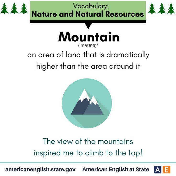 Vocabulary: Nature and Natural Resources - Mountain