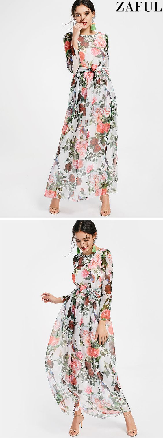 Find the latest and trendy maxi dresses - women's long, floral, summer, lace, black And white maxi dress online at ZAFUL.#dress#maxidress
