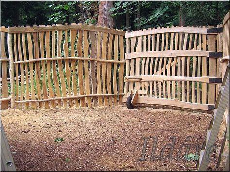 Acacia fence, deszka kerítés, akácból