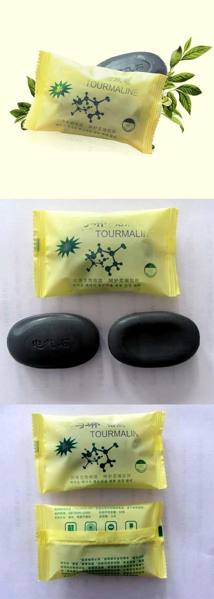 Tourmaline bamboo active energy Soap Charcoal active energy soap Concentrated sulfur soap For Face & Body Beauty Healthy