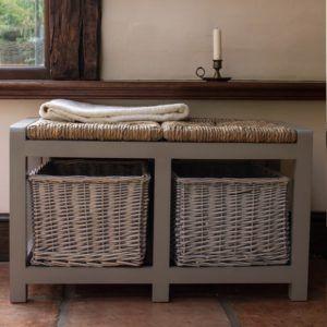 Bench With Wicker Storage Baskets & Best 25+ Wicker storage baskets ideas on Pinterest   Ikea storage ... islam-shia.org
