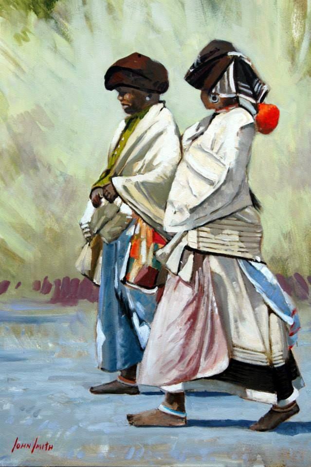 """Xhosa Women - Eastern Cape - Pastel 18""""x24"""""""