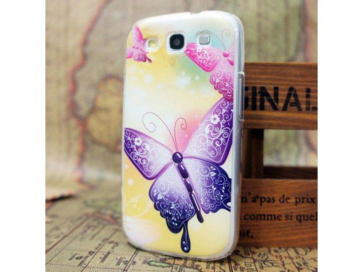Plastový kryt (obal) pre Samsung Galaxy S3 - motýľ
