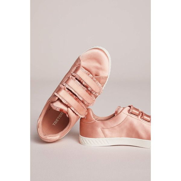 Tretorn Carry II Sneakers ($78) ❤ liked on Polyvore featuring shoes, sneakers, peach, tretorn sneakers, tretorn shoes, tretorn, long shoes and peach shoes