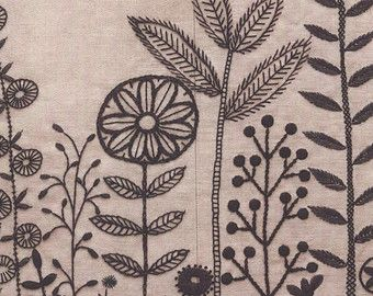 Embroidery patterns botanical herb embroidery by LibraryPatterns
