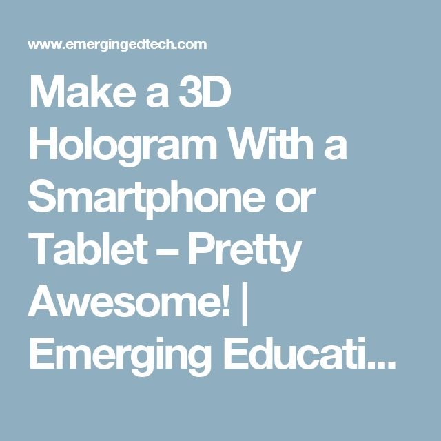 how to make a real hologram
