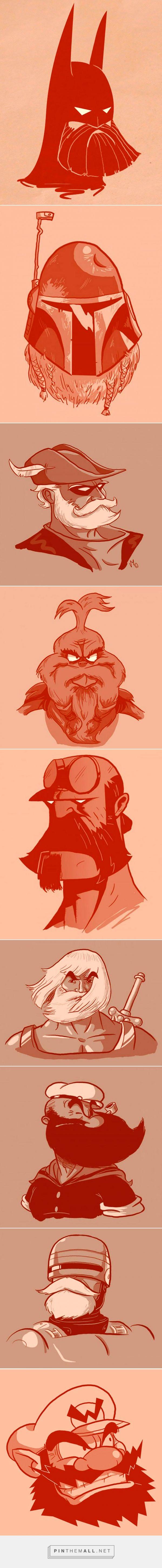 Bearded superheroes by Vanja Mrgan
