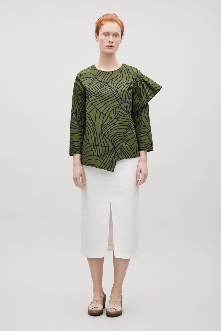 COS | Top with gathered shoulder detail
