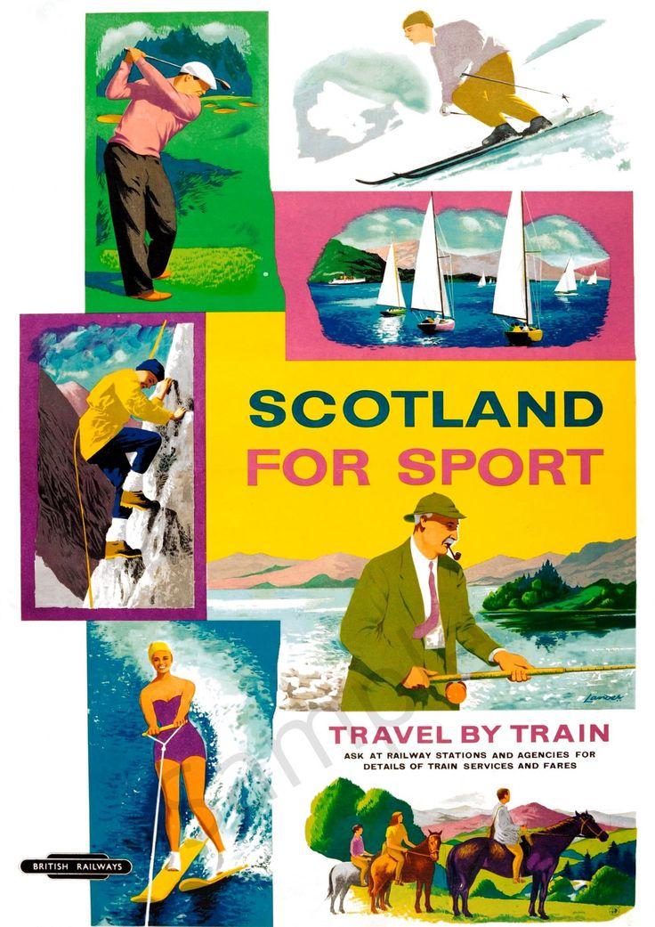 Scotland for Sport   Sport poster, Vintage advertising ...