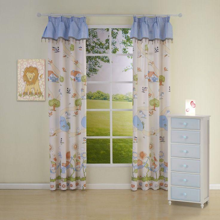 Novelty Country Blue Kids Curtains  #curtains #decor #homedecor #homeinterior #blue