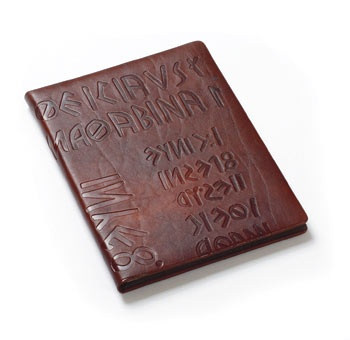ikuvina note pad in naturally tanned leather