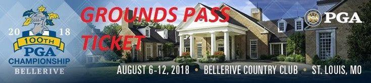 #tickets 2018 PGA Championship Golf Tickets - 2 Wednesday Practice Round Grounds Passes please retweet