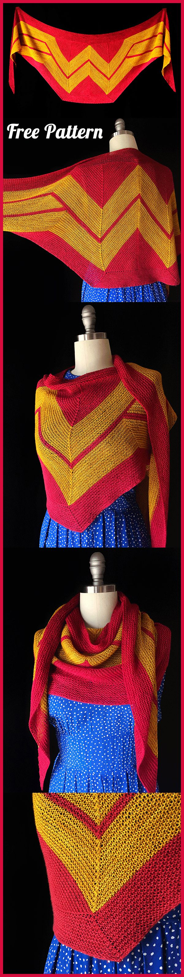 Shawl Wonder Woman Wrap Crochet and Knitting