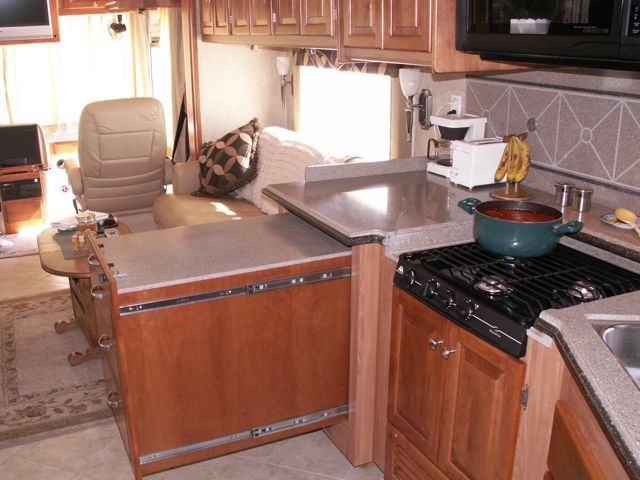 Rv Countertop Options : ... rv s wheelin countertop add countertops rv remodel forward retractable
