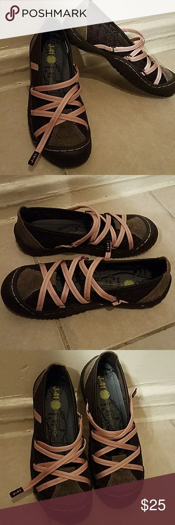 Jeep J-41 adventure on Cute pink and gray shoes used only once. Jeep J-41 Shoes Athletic Shoes