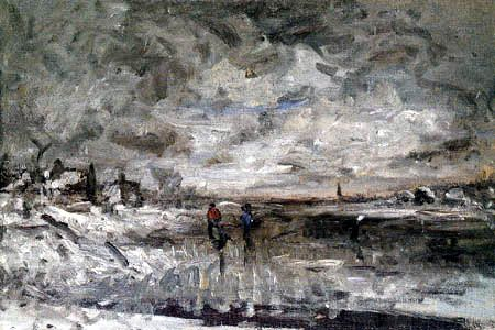 Fanny Churberg: Winter landscape (1880)