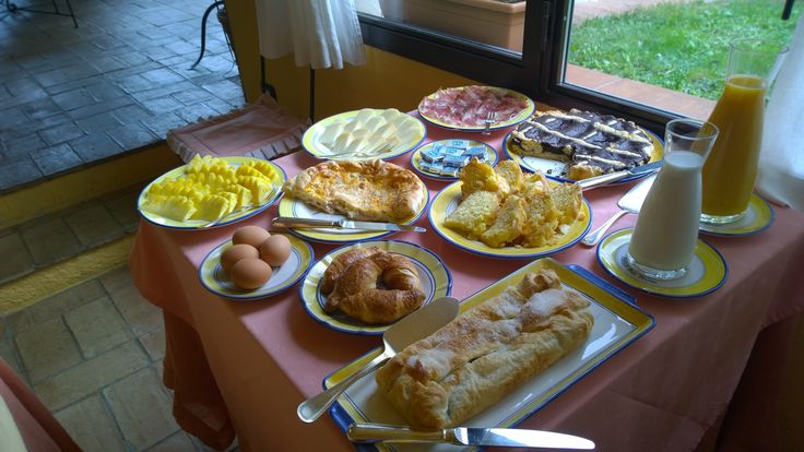 Breakfast at Relais San Bruno, Montepulciano, Italy