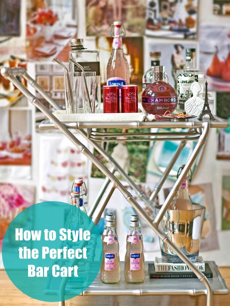 Style the perfect bar cart for your New Year's celebration