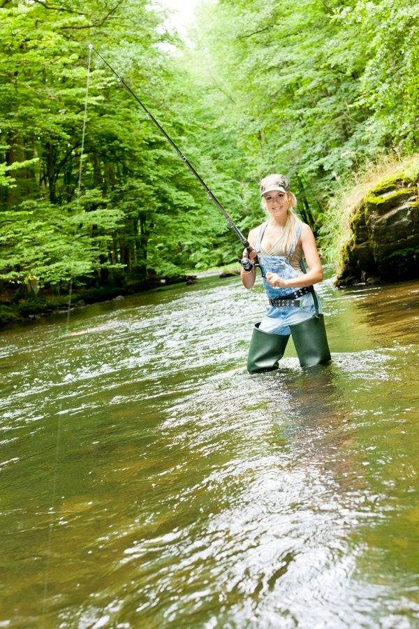 126 best women in waders images on pinterest rubber work for Best fly fishing waders