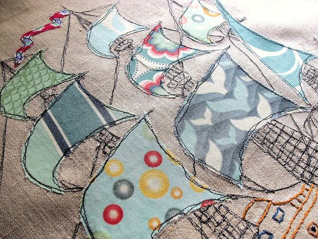 Where shall we adventure? (detail) by Bustle & Sew, via Flickr