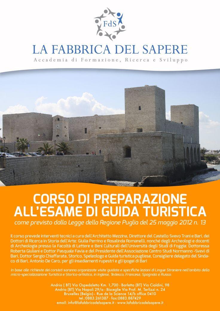Ad Aprile p.v. saranno pubblicate le date per le prove scritte (a Taranto) dell'Esame di Abilitazione Professionale per il Patentino di Guida Turistica in Puglia