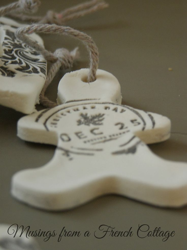 Musings From A French Cottage: Clay Christmas Ornaments or Gift Tags