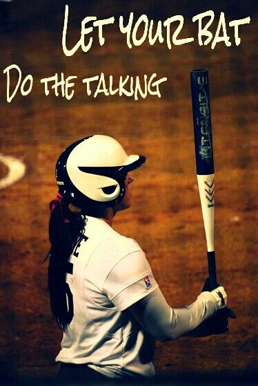 #softball #batting let you bat do the talking