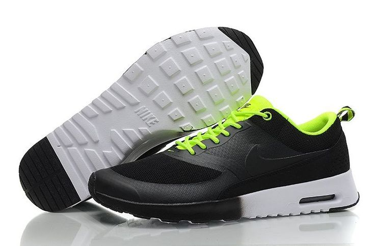 Air Max Thea Een Uitverkoop Nike Heren Sneakers Schoenen Zwart/Fluorescerend Groen
