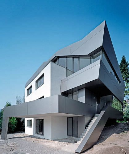 Fichtestrasse, Germany, 2007, by Biehler Weith Associated ALUCOBOND®, Silver Metallic #facades #architecture #alucobond