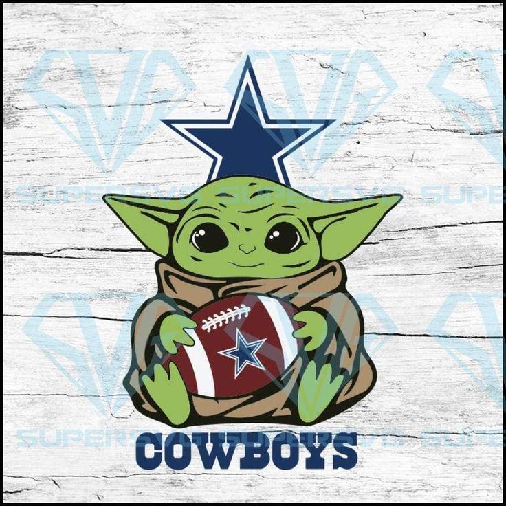 Baby Yoda Star Wars, Dallas Cowboys Svg, NFL Svg, Football