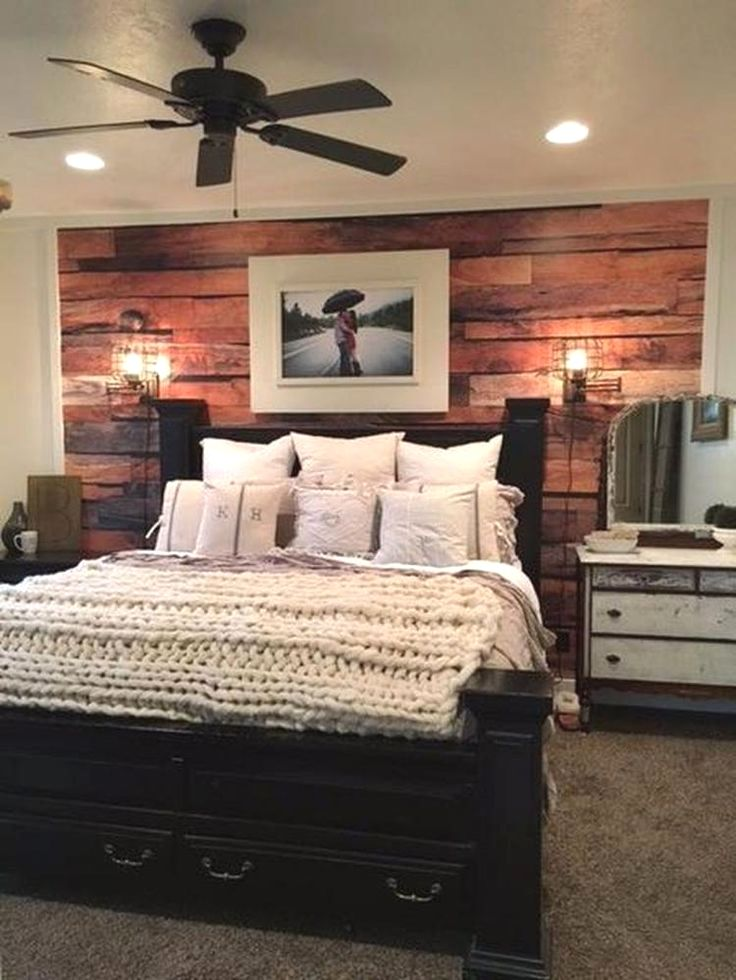 30 Chic Rustic Bedroom Ideas Rustic Master Bedroom