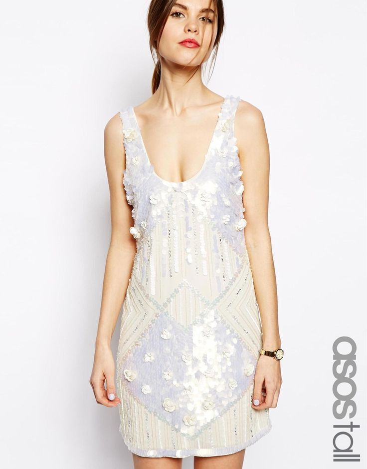 Quality 1920s Flapper Dresses. ASOS TALL Amazing Embellished Shift Dress $142.91  #flapper #greatgatsby #1920sfashion