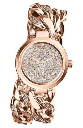Michael Kors 'Ellie' Pavé Wrap Chain Link Watch, 38mm | Nordstrom #LoveNatickMall