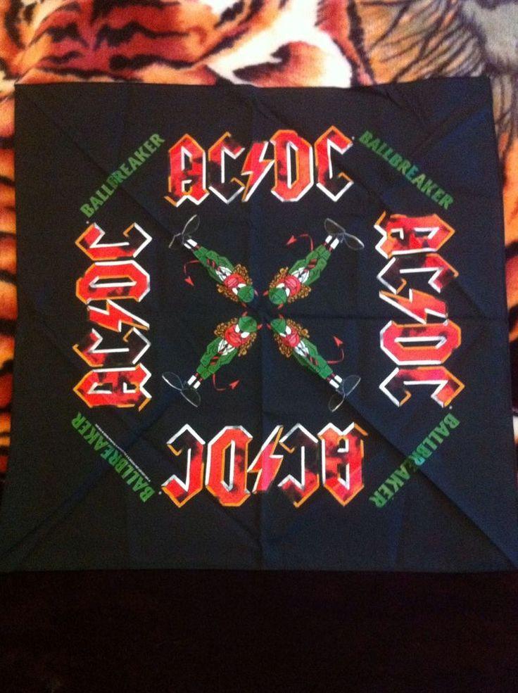 AC/DC VINTAGE 1995 Ballbreaker Concert Bandana Rare New Mint Gem By Brockum Usa  | eBay