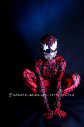 Coolest Homemade Carnage (Spiderman Villain) Costume