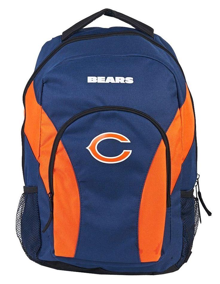 Chicago Bears Draft Day Navy Back Pack