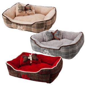 Grreat Choice 174 Plaid Cuddler Gift Set Pet Bed Color